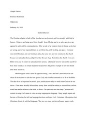 Christian Form Paper #6