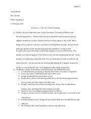 Public Speaking Critical Exercises Chapter 3.docx
