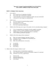 A161 Tutorial 5 - Management Accounting (QUESTION)