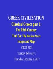 CLST 2101 Unit 3a Classical Greece  part 1 - The Persian Wars - images and maps