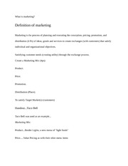 MKTG 4451 Marketing Management Overview