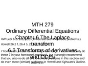 6.2 Transforms of derivatives and ODEs(4)
