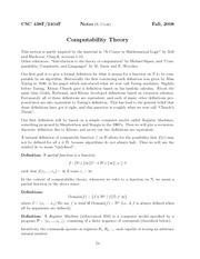 Computability Theory Lecture Notes
