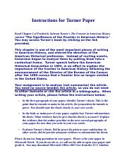 Instructions for Turner Paper
