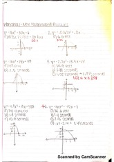 Max Height Word Problems Worksheet