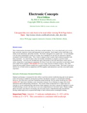 Electronic Concepts First Edition