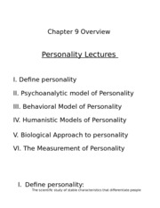 9. Personality