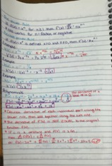The Power, Product, and Quotient Rule of Derivatives