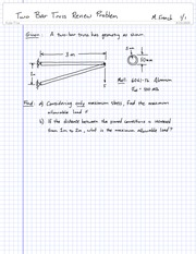 Review Problem 1 - Two Bar Truss