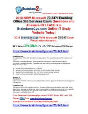 [2018-7-2]Braindump2go New 70-347 VCE and 70-347 PDF Dumps 296Q&As Free Share(272-282).pdf