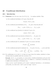 Chapter 9. Conditional Distribution