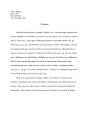 Spanish Walton Assasin Essay