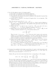 MATH 251 Assignment 10 Solutions
