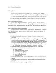 A&PII Exam 2 study guide