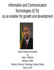jjr_sectoral_debate_presentation__2013_final_-_ict_as_enabler_for_growth_and_development.ppt