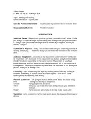 Sample Persuasive Speech CS (Texting and Driving).doc