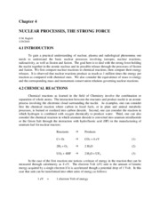 4. Nuclear Processes The Strong Force