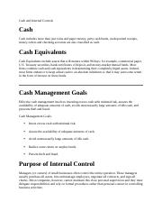 Cash and Internal Controls.docx