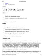 Lab 6 - Molecular Geometry