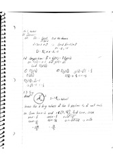 Calc 1 Notes domain and range
