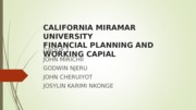 WORKING CAPITAL FINAL