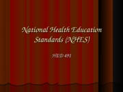 National Health Education Standars