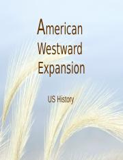 PP- American Westward Expansion.pptx