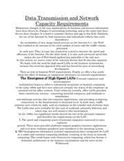 Data Transmission and Network Capacity Requirements