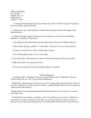 English paper assignment  8 Plagiarism.docx