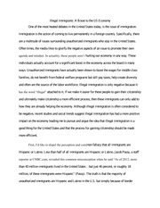 Sample High School Essays Essay About Illegal Immigration Pursuasive Speech Outline Persuasive  Thesis For Persuasive Essay also Easy Persuasive Essay Topics For High School Essay About Immigration  Romefontanacountryinncom What Is Thesis Statement In Essay