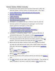 Immune System Cellular Immunity Worksheet - Immune System ...