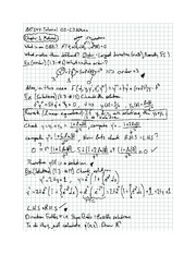 Exam 1 solution on Differential equations