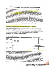 Accounts Receivable and Uncollectible Customer Accounts handout