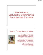 CHM11-3 Lecture on Stoichiometry