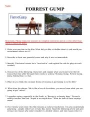 FORREST GUMP movie review - Xaneveya Davidson.doc