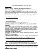 Intro to American Foreign Policy Exam 1 Study Guide.docx