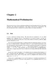 2 Mathematical Preliminaries