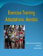 7.1 Training Adaptations Aerobic