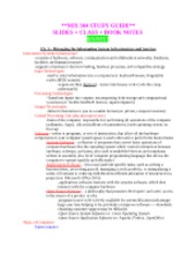 MIS 304 EXAM 2 STUDY GUIDE