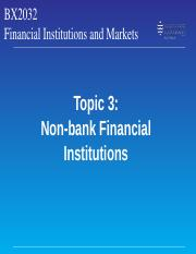 Topic 3 Non-bank Financial Institutions.ppt