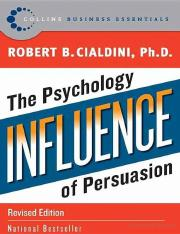 Influence_ The Psychology of Persuasion by Robert Cialdini.pdf