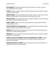 Health Care Terms