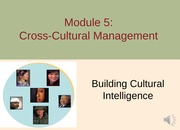 Module 5 Cross-cultural MGMT F13 - Part 2