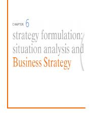 6. Strategy Formulation- Situation Analysis and Business Strategy.ppt