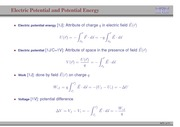 72. Electric Potential and Potential Energy