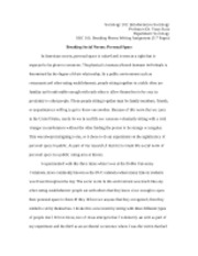 breaking social norms essay sociology introduction to  breaking social norms essay sociology 101 introduction to sociology professor dr tracy scott department sociology soc 101 breaking norms writing