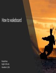 how to wakeboard ppt