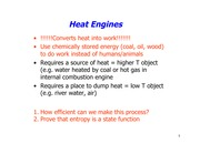 Heat Engines homework