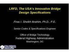 LRFD_USA Innovative Bridge Design Specifications