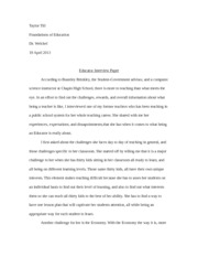 Educator Interview paper